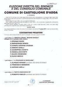 MANIFESTO PROCLAMAZIONE ELETTI 2017